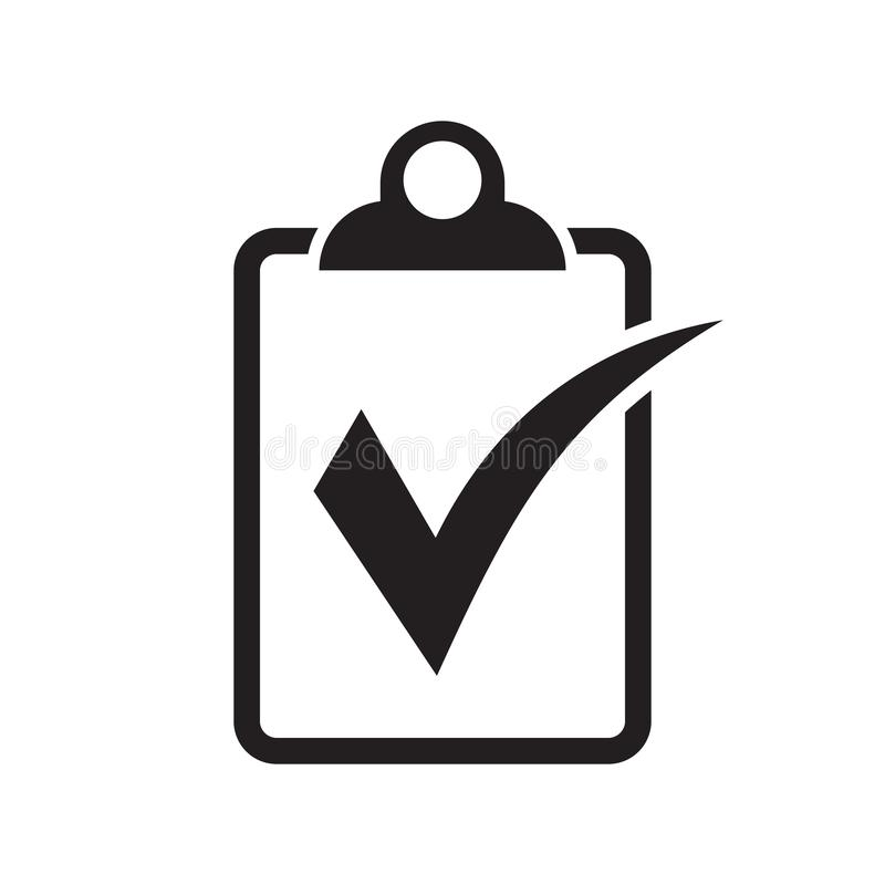 Checklist icon flat style isolated on background. Checklist sign symbol for web site and app design. Vector illustration on white background stock illustration