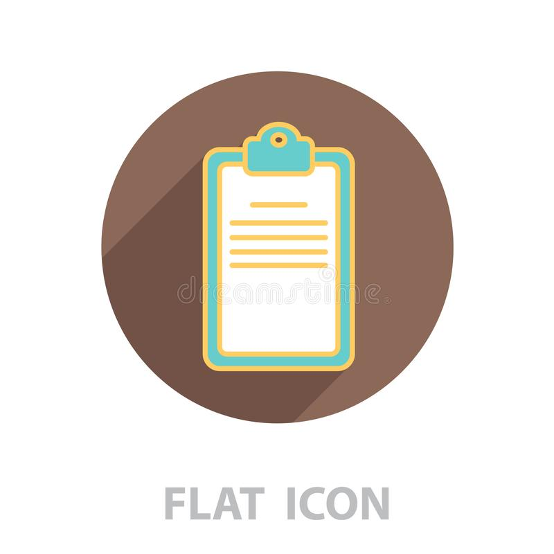 Checklist line vector icon stock illustration