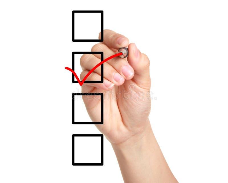 Checklist stock photos