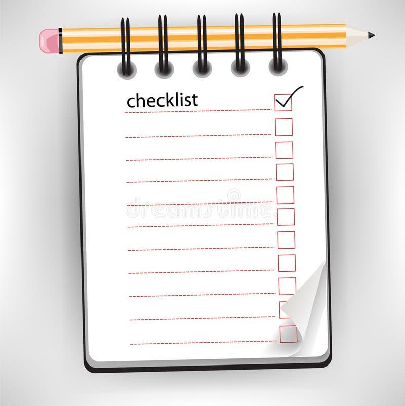 Checklist notebook stock illustration