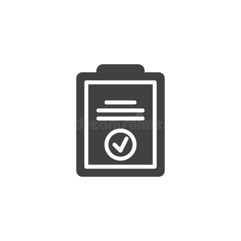 Checklist paper clipboard vector icon vector illustration