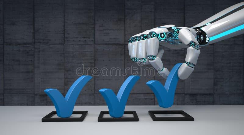 Checklist para o robô humano ilustração do vetor
