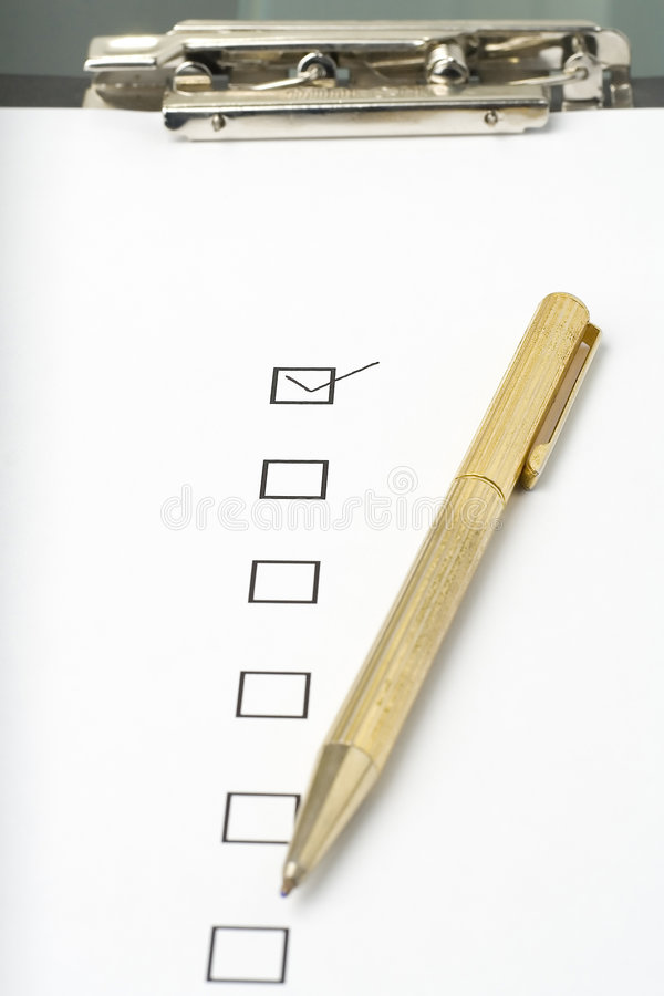 Free Checklist Questionnaire Quality Of Service Stock Images - 6756324