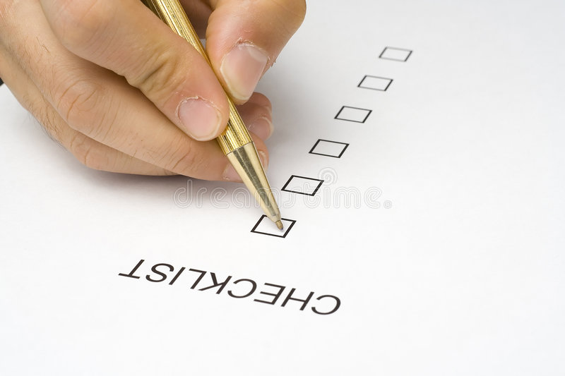 Checklist questionnaire quality of service royalty free stock photos