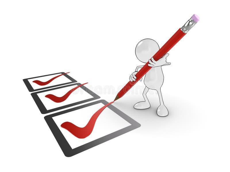 Checkliste lizenzfreie abbildung