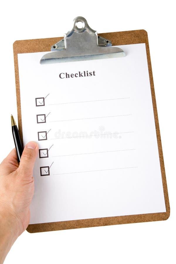 checkliste stockfotografie
