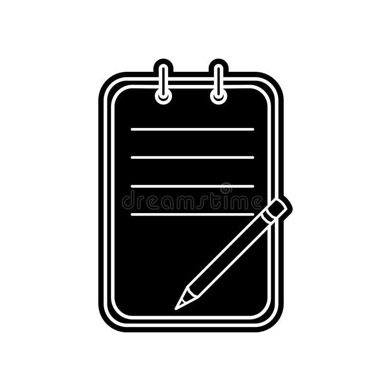 Checkliste Ikone Element der Bildung f?r bewegliches Konzept und Netz apps Ikone Glyph, flache Ikone f?r Websiteentwurf und Entwi vektor abbildung