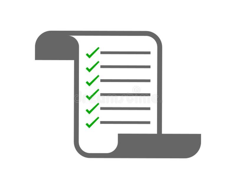Checkliste Ikone vektor abbildung
