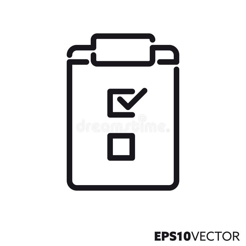 Checklisten-Vektor-Linie Ikone vektor abbildung