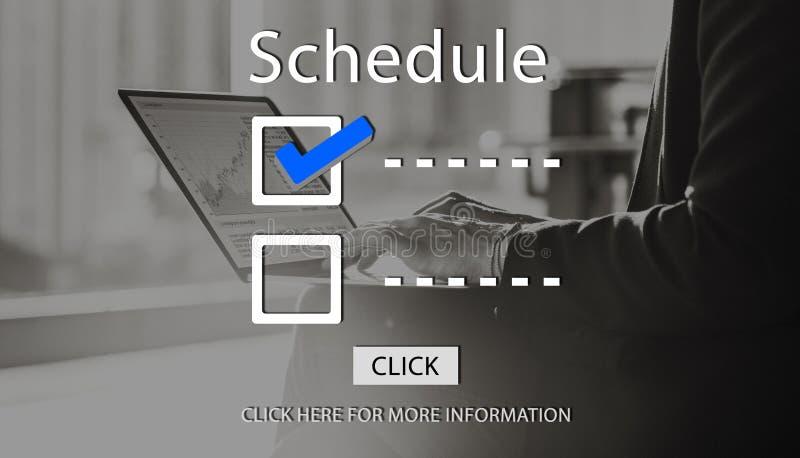 Checklisten-Zeitplan, zum des Bewertungs-Konzeptes zu tun lizenzfreies stockfoto