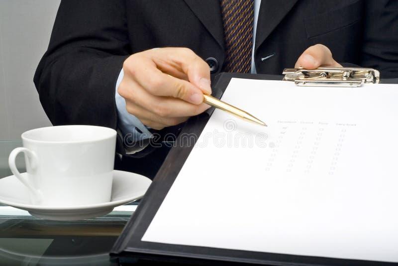 Checklistenfragebogengüte stockbild