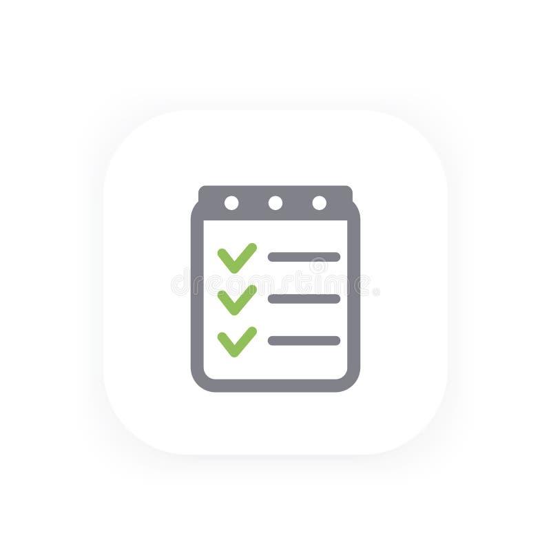 Download Checklistenikone, Abgeschlossene Aufgaben Vektor Abbildung - Illustration von formular, klemmbrett: 96934872