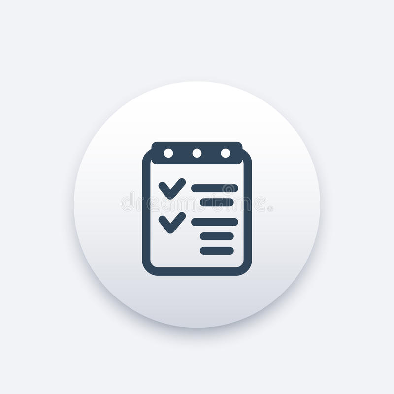Download Checklistenikone, Abgeschlossene Aufgaben, Leistungen Vektor Abbildung - Illustration von notizbuch, geschäft: 96934131