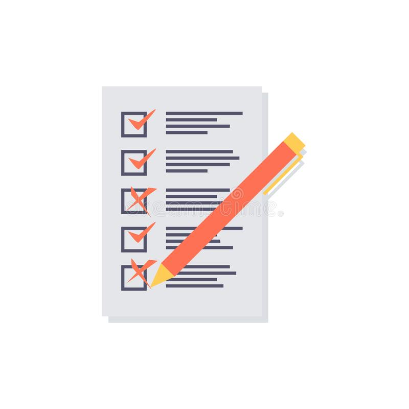 Checklistenikone Auch im corel abgehobenen Betrag lizenzfreie abbildung