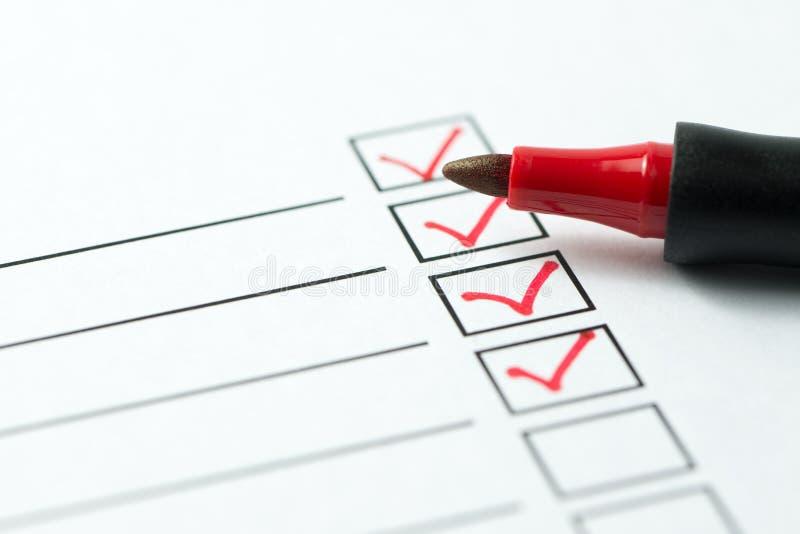 Checklistenkasten lizenzfreies stockfoto