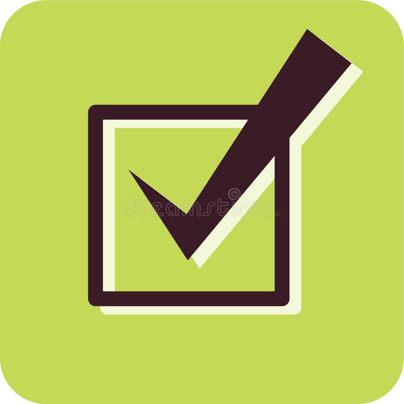 A checkmark in a checkbox. Illustration of a checkmark in a checkbox stock illustration