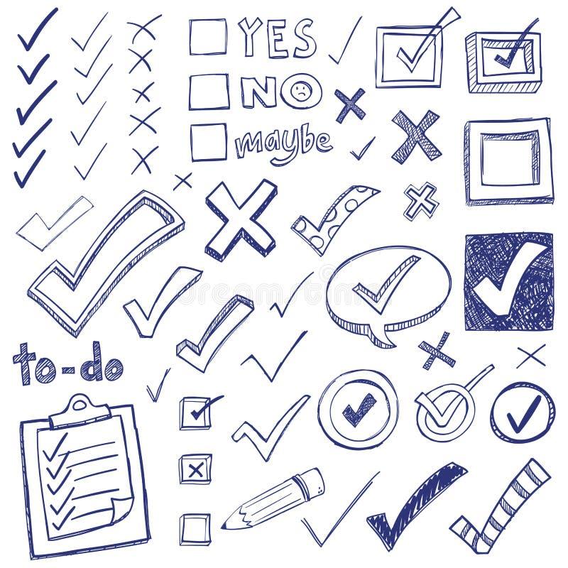 Checkmark Doodles ilustracji