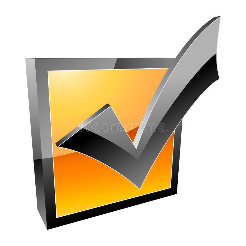 Checkmarkierung stock abbildung