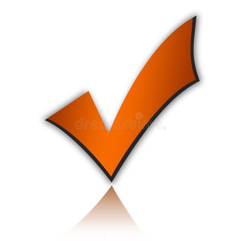Checkmarkierung vektor abbildung