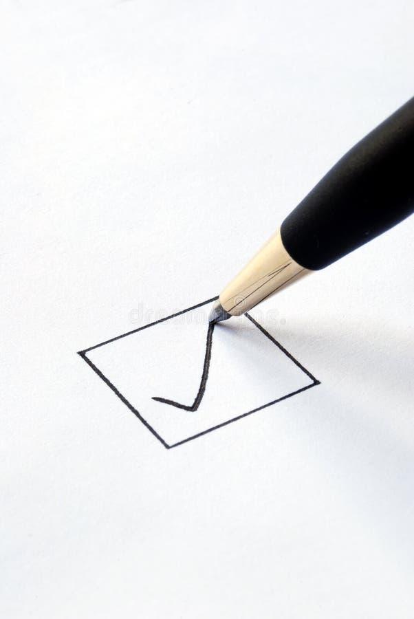 Checkmarkierung/Häckchen lizenzfreies stockbild