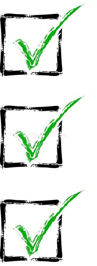 Checkmarkierungsliste lizenzfreie abbildung
