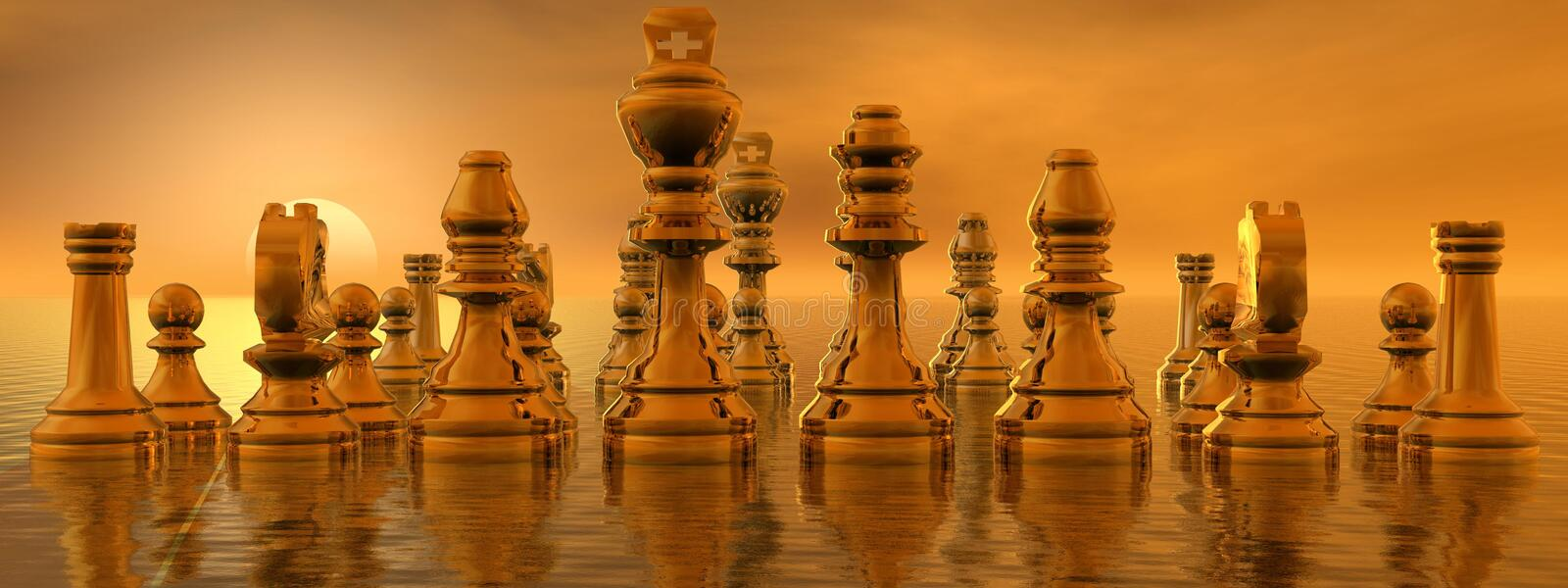 Checkmate. Yellow and sun yellow stock illustration