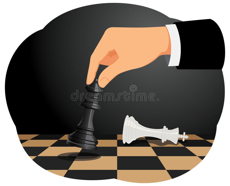 checkmate illustration stock