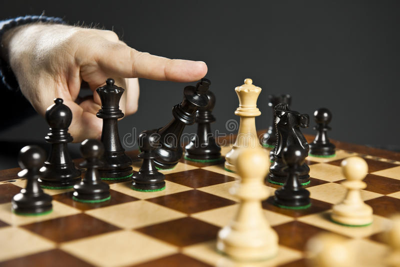 Checkmate in chess royalty free stock photos