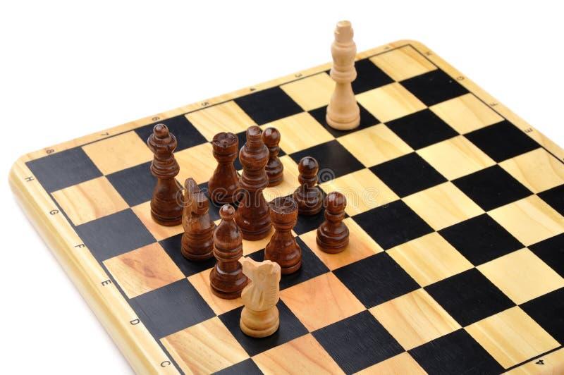 Checkmate feito por um cavalo foto de stock royalty free