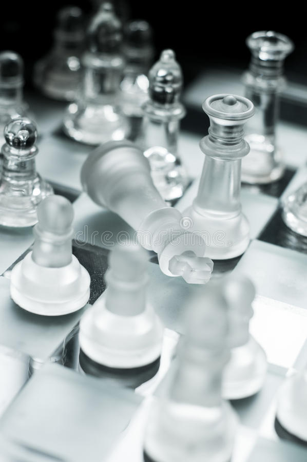 Checkmate. Game over a queens checkmate royalty free stock photo