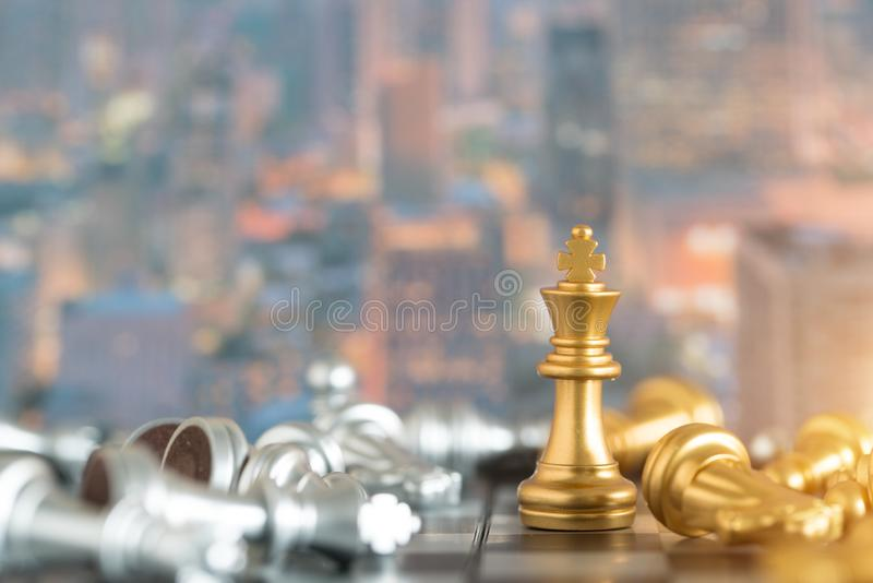 Checkmate loses the king, selects focus.  stock images