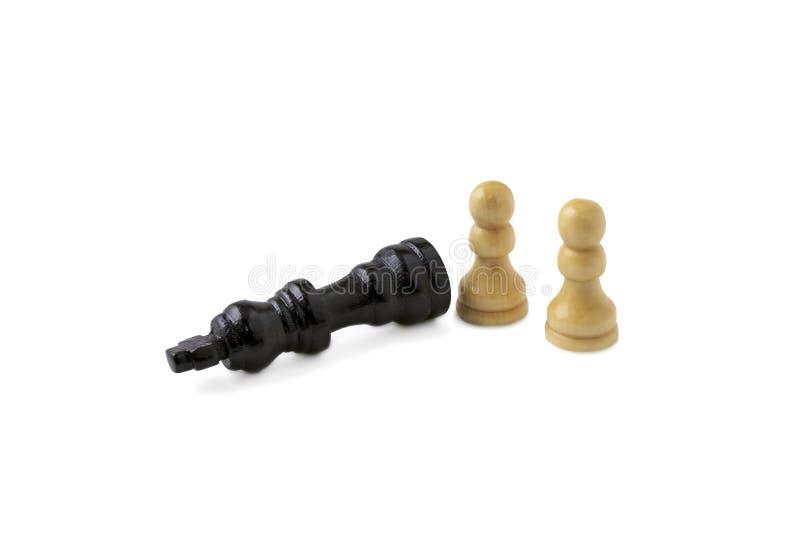 Checkmate para o rei preto fotografia de stock
