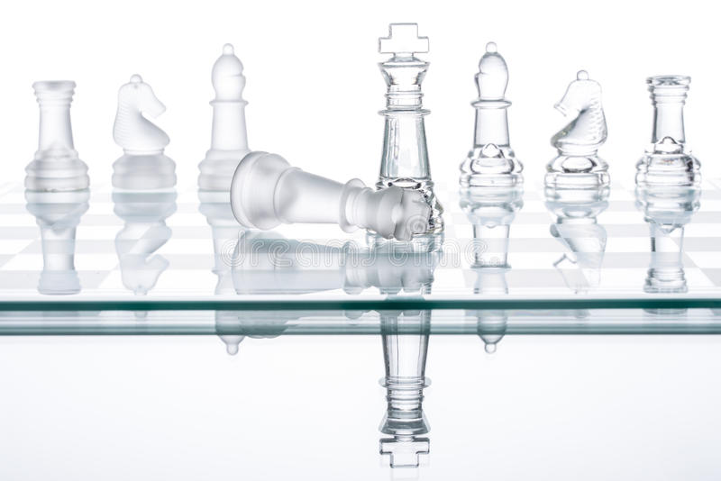 Checkmate Strategy on chess board, business War Winning stock photography