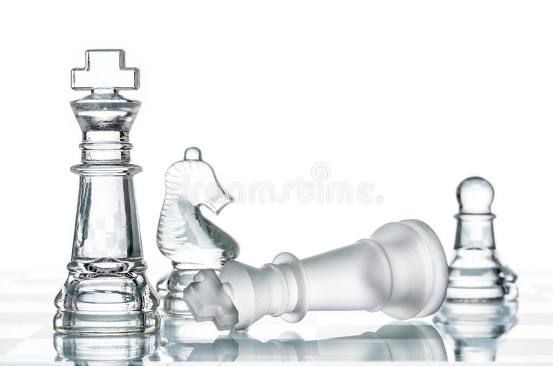 Checkmate Strategy on chess board, business War Winning. Topple Conquering Adversity royalty free stock photos