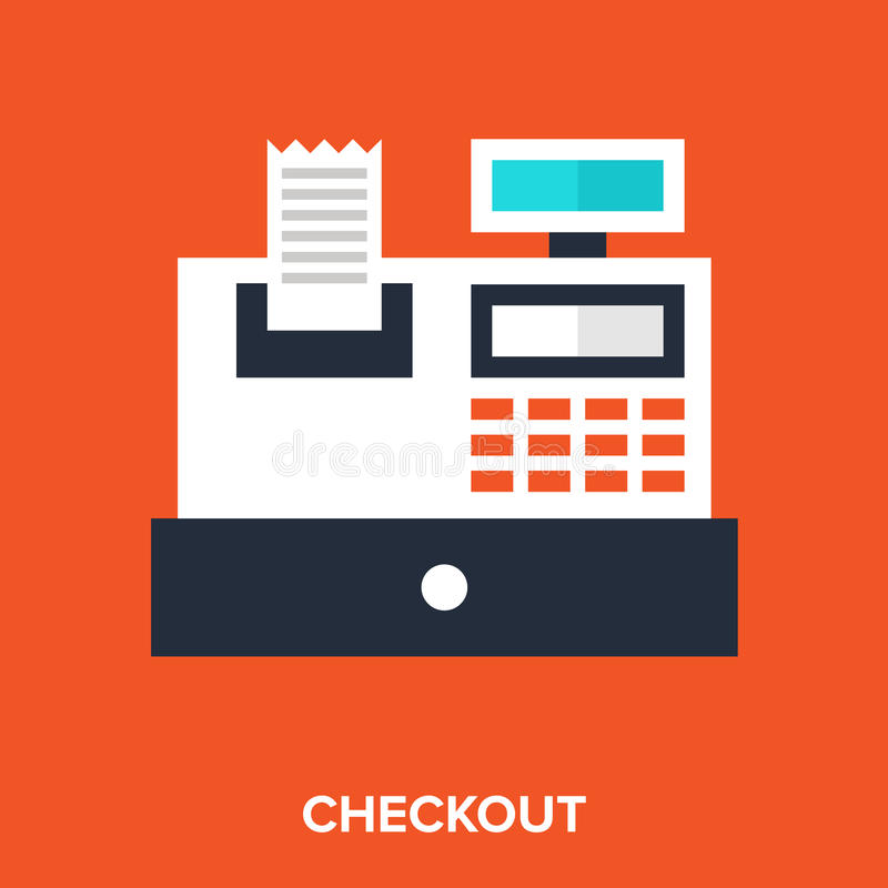 Checkout. Abstract vector illustration of checkout flat design concept stock illustration