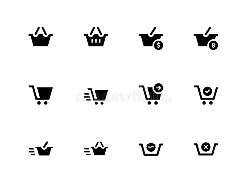 Download Checkout Icons On White Background. Stock Vector - Image: 33444147