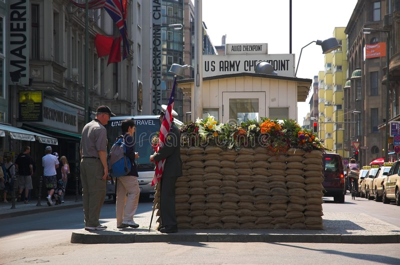 Checkpoint Charlie royalty free stock photo