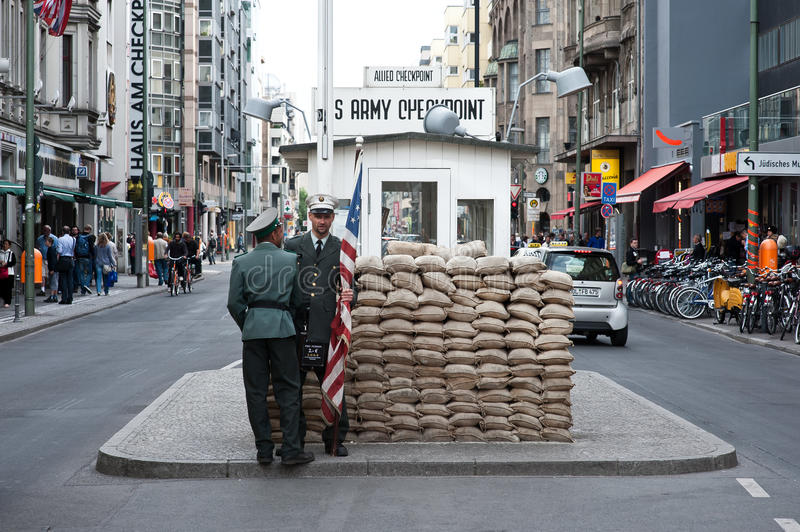 Download Checkpoint charlie editorial stock photo. Image of 1961to1989 - 20227408