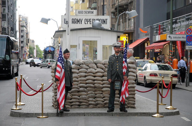 Download Checkpoint Charlie editorial stock image. Image of patriotism - 21096064