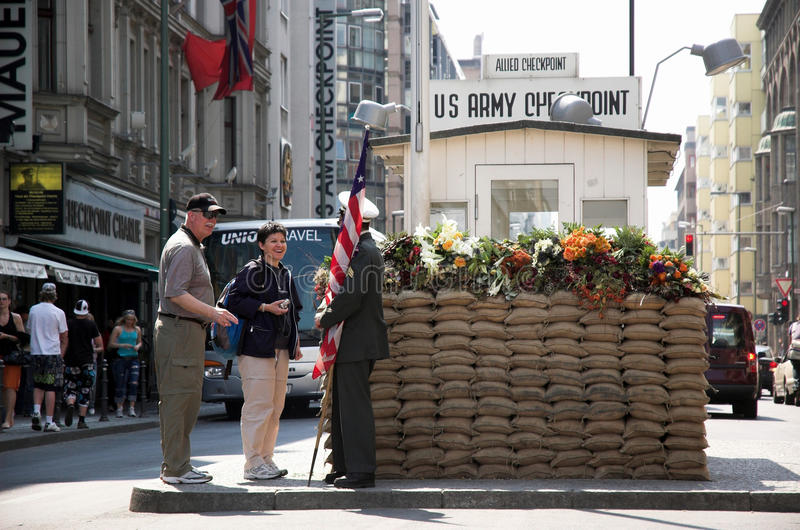 Checkpoint Charlie royalty free stock photos