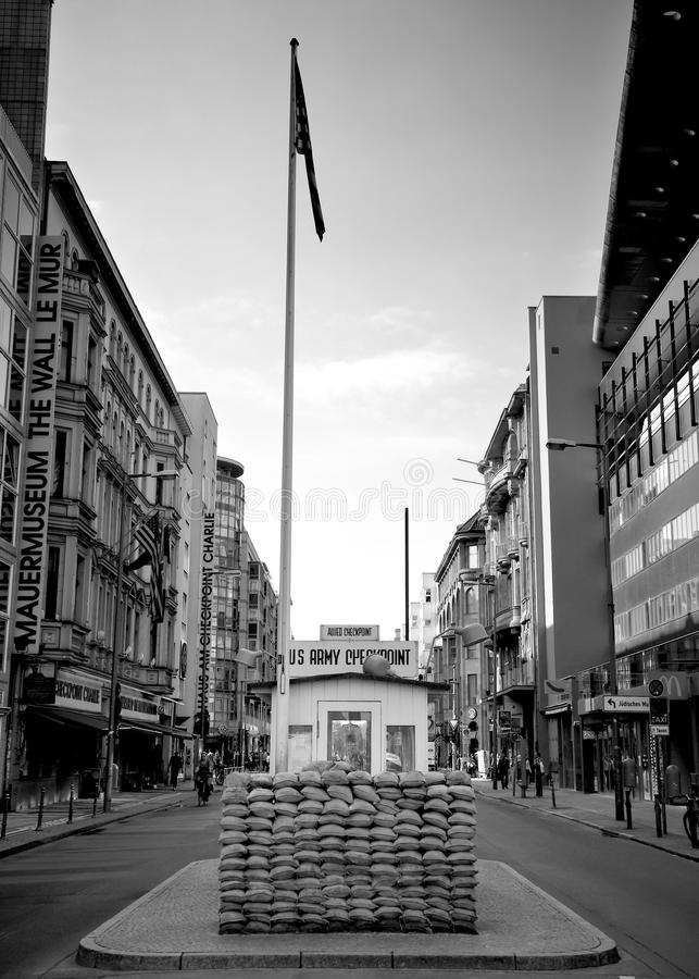 Download Checkpoint charlie berlin editorial photography. Image of cold - 21036562