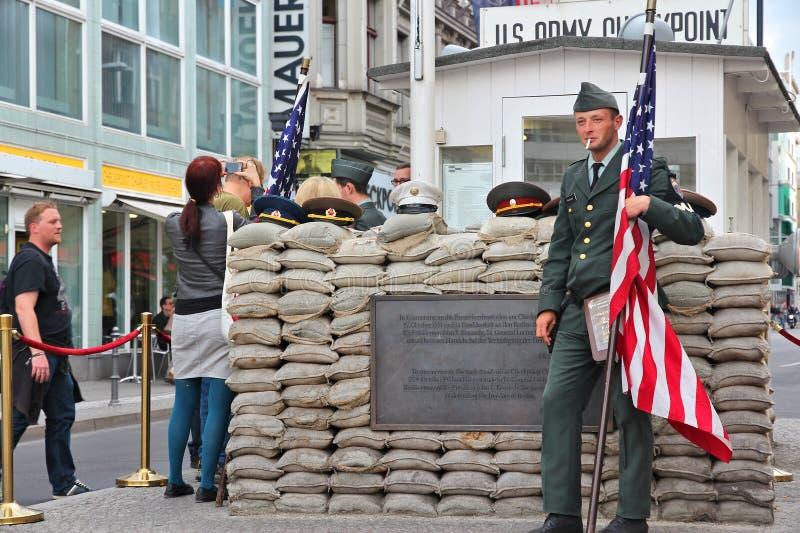 Checkpoint Charlie, Berlin zdjęcie stock