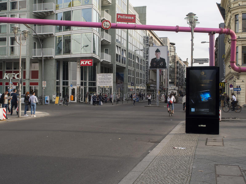 Checkpoint Charlie, Berlin stock images