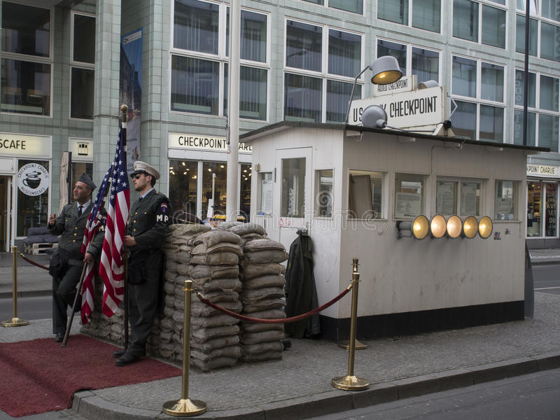 Checkpoint Charlie, Berlin royalty free stock image