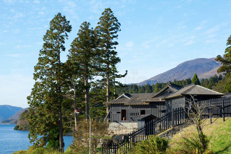 Checkpoint of the old Tokaido road in Japan royalty free stock photos