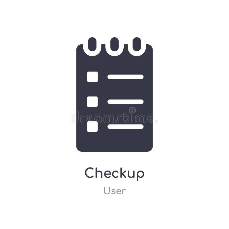 checkup ikona odosobnionej checkup ikony wektorowa ilustracja od użytkownik kolekcji editable ?piewa symbol mo?e by? u?ywa dla st ilustracji