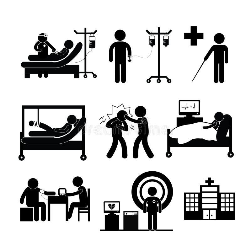Checkup medyczny w szpitalu royalty ilustracja