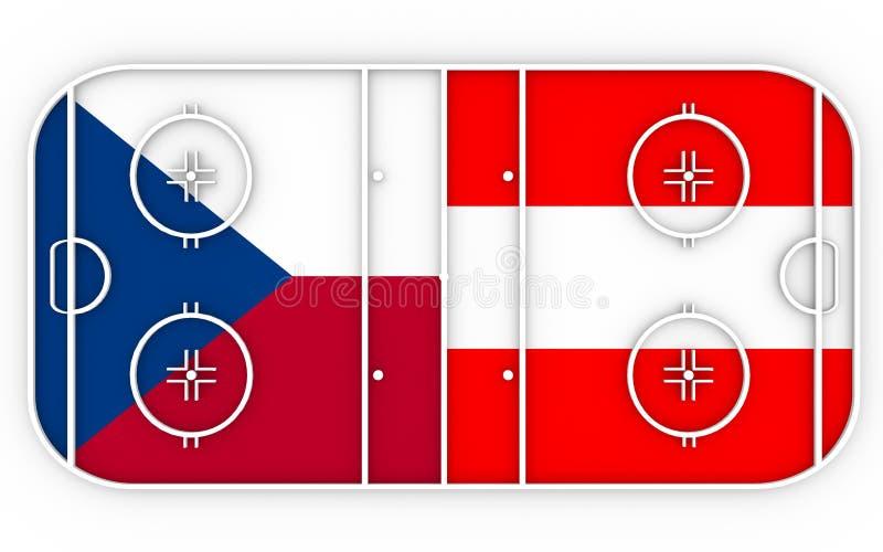 Checo contra Austria ilustración del vector