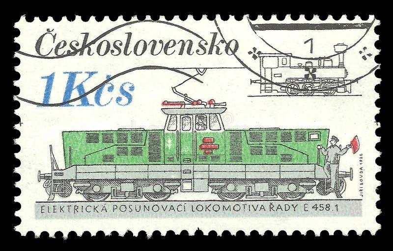 Checoslováquia, locomotiva elétrica imagens de stock