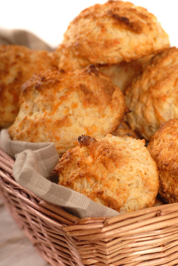 Cheddar cheese biscuits royalty free stock image
